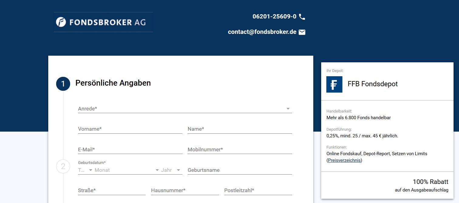 Depoteröffnung Online Fondsbroker Financial Consulting Ag